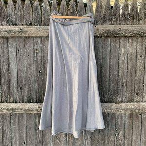 LuLaRoe grey maxi skirt size medium GUC